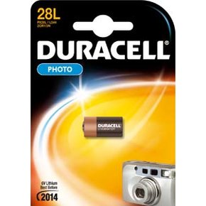 Duracell 28L, PX28L, L554, 2CR1/3N (6Volt Lithium Photo)