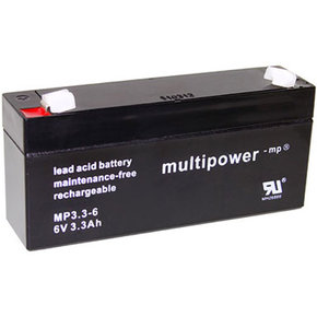 Blei-Akku 6Volt - 3,3Ah (MP3.3-6) Multipower/Powery