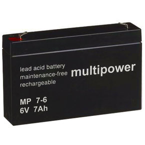 Blei-Akku 6Volt - 7Ah (MP7-6) Multipower/Powery