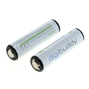 digibuddy Akku 18650 Li-Ion - 2er Pack